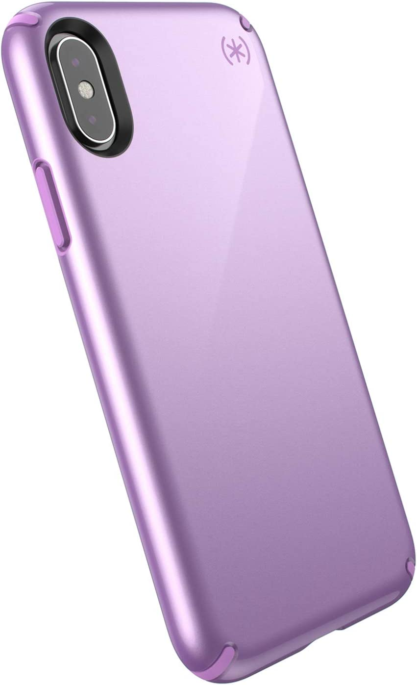 Speck Products Presidio Metallic iPhone Xs/iPhone X Case, Taro Purple Metallic/Haze Purple