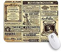 ECOMAOMI 可愛いマウスパッド ヴィンテージの古い新聞の背景 滑り止めゴムバッキングマウスパッドノートブックコンピュータマウスマット