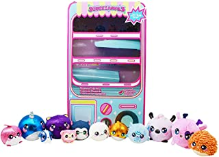 Squeezamals Plush Toys - Toy Vending Machine Playset with 12 Mini Stuffed Animals - Four 3.5 inch, Six 2.5 inch and Two 1 ...