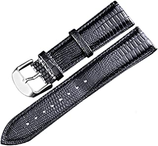 Genuine Leather Watch Band 24mm-12mm Replacement Watch Strap Wristband for Men Women Full Color & Size