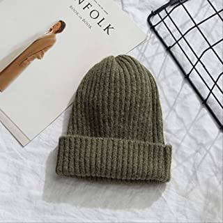 MZHHAOAN WomenKnitted Warm Soft Trendy Hats Style Womens Caps Elegant All-Match Beanie