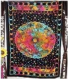 giyiohok Los signos del zodíaco Tapiz Mandala Étnico Sol y luna Tapiz Hippie Gypsy Hoja para colgar en la pared Colcha Colcha Cortina Decoración Mesa Sofá Cubierta Playa Tiro-58*79in