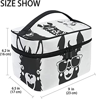 Large Hanging Toiletry Bag Kit/Travel Organizer Cosmetic Makeup Bag Case for Women Men (3 Cool Llama Alpaca)