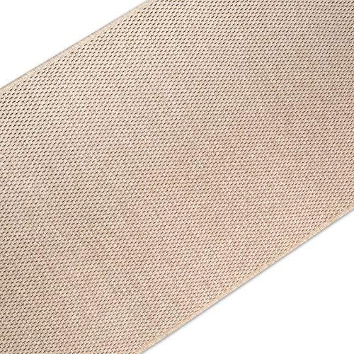 casa pura Teppich Läufer in Sisal Optik | Flachgewebe mit Tiger-Eye-Struktur | ausgezeichnet mit GUT-Siegel | kombinierbar mit Stufenmatten (Beige, 66x300 cm)