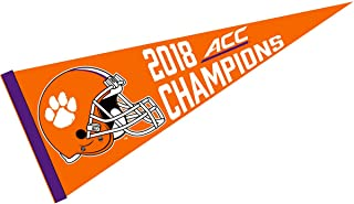 College Flags and Banners Co. Clemson Tigers 2018 Acc Football Champions Pennant