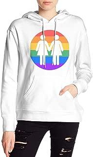 VJJ AIDEAR Lesbian Pride Women's Sweater Printed Hoodied Long Sleeve Coat