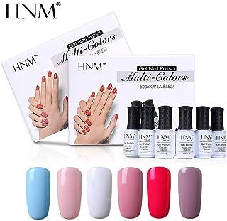 HNM 6 pcs/lot 8ml Gel Nail Polish Set UV Semi Permanent Gelpolish Paint Nail Art GelLak Varnish Esmalte Lacquer r Nail Kit Color 004