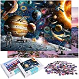 GOLDGE 2pcs Puzzle 1000 Piezas para Adultos, Puzzles Souvenir Regalo Obra de Arte de Juego de Adulto Rompecabezas para Navidad Viajeros espaciales y Globos románticos Multicolor