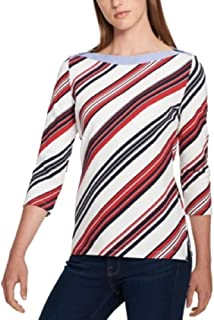 Tommy Hilfiger Cotton Boat-Neck Top