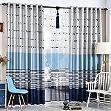 Cortina,Cortinas de living comedor dormitorio simple cortina moderna rayas cortinas de impresión de la sombra-A 300x260cm(118x102inch)