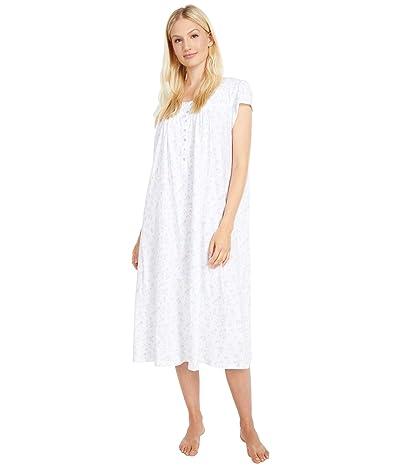 Eileen West 100% Cotton Cap Sleeve Ballet Nightgown (Botanical Print) Women