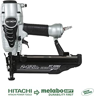 Hitachi NT65M2S 16-Gauge Finish Nailer with Integrated Air Duster, 2-1/2-Inch, Silver..