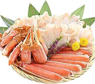 港ダイニングしおそう お中元 ギフト 生 ズワイガニ カット済み 600g(総重量750g) お刺身OK かに カニ ずわい蟹 ポーション むき身 冷凍 かに鍋 かにしゃぶ プレゼント 贈り物