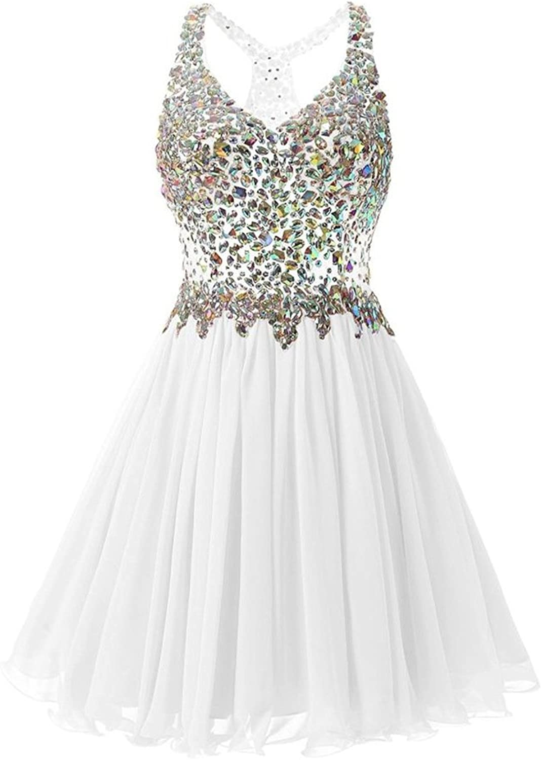 Y&C Women's Homecoming Dresses for Girl Evening Party Wedding Short Prom Gowns