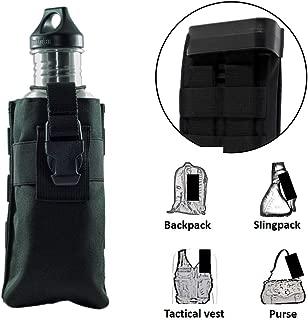 Clakit Water Bottle StrapPack - Backpack Shoulder Strap Pocket, Fits Bottle up to 3.25