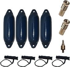 Majoni Complete set van 4 Star Fender met 4 fenderlijnen, 2 reserveventielen en 1 ventieladapter.