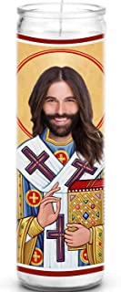 Celebrity Prayer Candles Jonathan Van Ness JVN Funny Saint Candle - Queer Eye Fab 5-100% Handmade in USA - Novelty Celebrity Gift