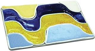 Activity Tray, Wavy Gel and Fabrics (Blue and Yellow) Each