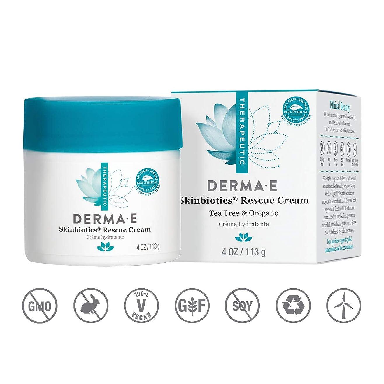 スケートペダルぎこちないDerma E Therapeutic Skinbiotics Treatment Cream 113g/4oz並行輸入品