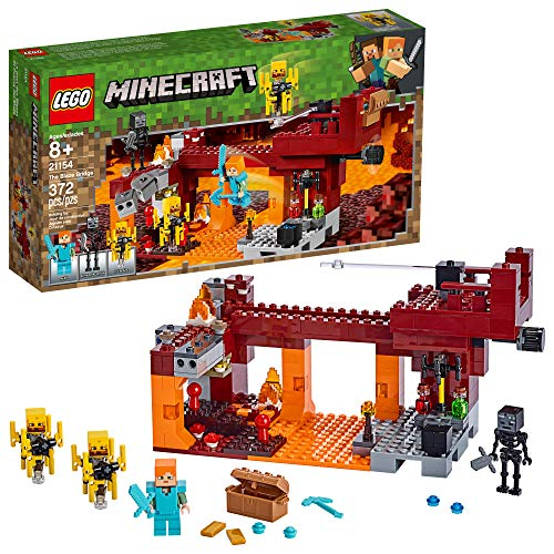 LEGO Minecraft The Blaze Bridge 21154 Building Kit, New 2019 (370 Pieces)