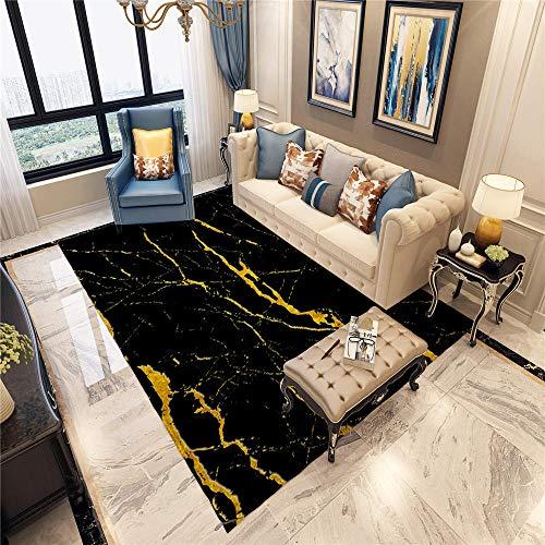 DJHWWD tapijten, anti-dirty, minimalistisch, woonkamertapijt, zwart, klassiek minimalistisch ontwerp, zacht vloerkleed, antislip, woonkamertapijt