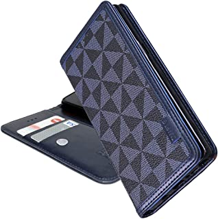 LG V30+ L-01K LGV35 L-02K 手帳型 ケース 吸盤付き isai JOJO エルジー V30プラス イサイ L01K L02Kマグネット無し カードポケット 手帳 カバー スマホケース 合成皮革 ウィンドミル模様 WDG1...