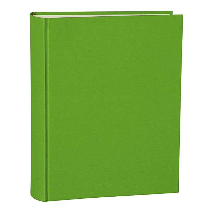 Semikolon Large Linen Hardcover Photo Album, 9.6 X 12 X 2 Inches, 130 Pages of Cream Mount Board, Lime (03212)