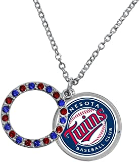 Game Time Offical MLB MINNESOTA TWINS Disc Necklace