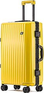 ボンイージ(bonyage) スーツケース アルミフレーム 耐衝撃 キャリーケース 機内持込 キャリーケース 軽量 キャリーバッグ 人気 大型 TSAロック付き 静音 旅行出張 サメの歯形 1年保証