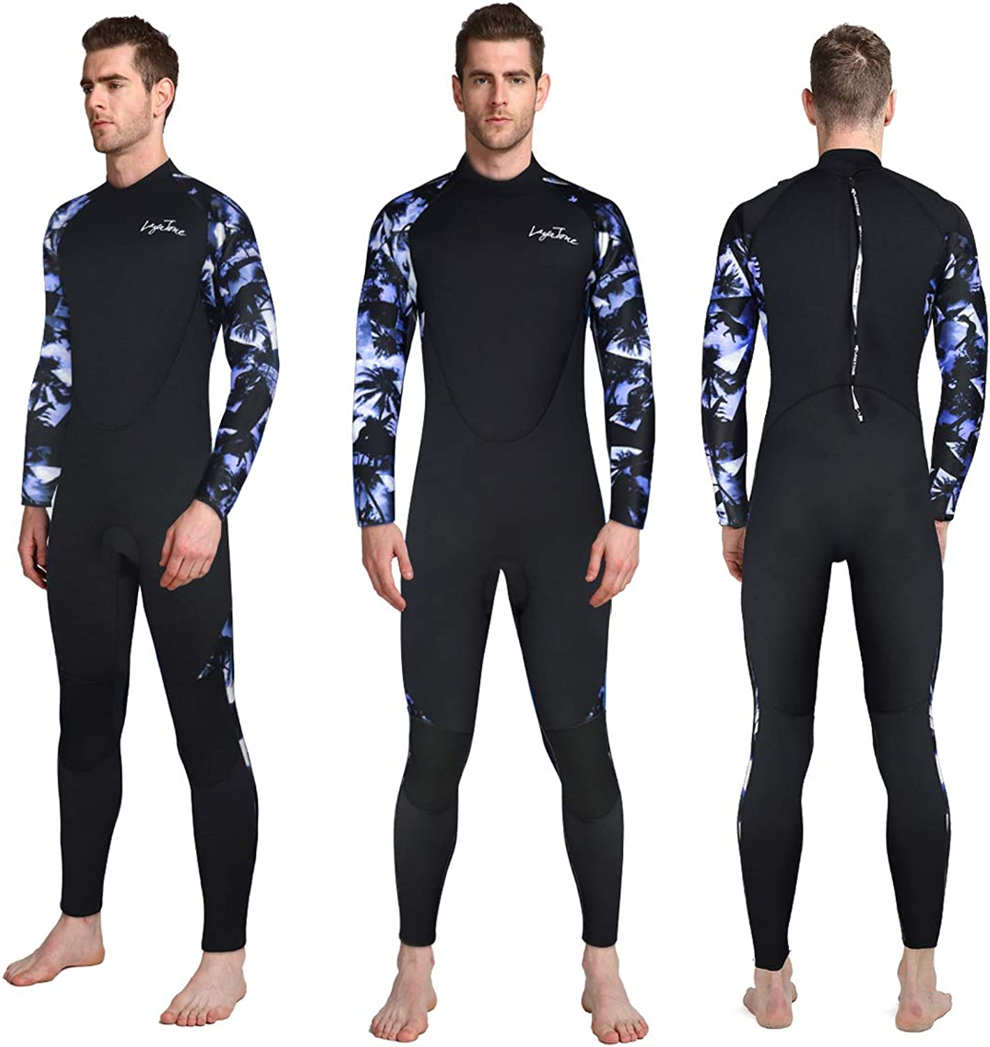 LayaTone Mens Wetsuits 3mm Neoprene Full Body Diving Suit for Scuba Diving Snorkeling Surfing Diving Swimming Kayaking Boating Fishing