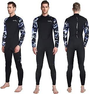 Layatone Diving Suit Men 3mm Neoprene Suit Surf Scuba Diving Wetsuits One Piece Swimsuit Men Back Zipper Full Body Wet Suits