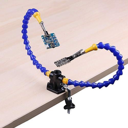 Ajustables Terceras Manos Reparación de Soldadura Herramienta de Aumento Múltiples (Dos brazos flexibles inusuales,