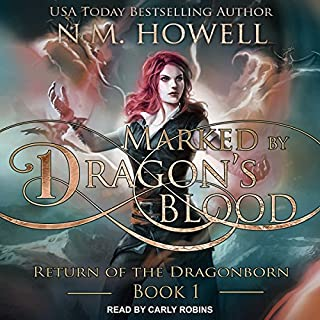 Marked by Dragon's Blood audiobook cover art