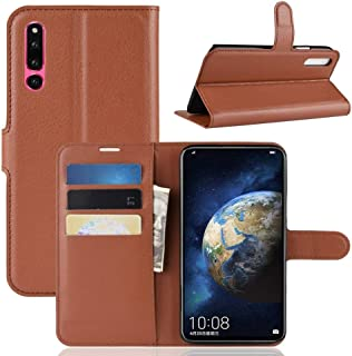 LFPING with Holder & Card Slots & Wallet, Litchi Texture Horizontal Sky Leather Case for Huawei Honor Thaumaturgy 2 (Color : Brown)