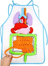 Cosylove Apron Human Body Organs 3D DIY Anatomical Model Educational for Insights Home Teaching Tool Nice Gift for Intellectual Development