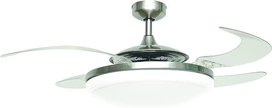 Blue-Yan 80w E27 Adecuado para Varios Lugares Que requieren iluminaci/ón de /área Grande E26 l/ámpara de Techo con aspas de Ventilador LED de Garaje Plegable s/úper Brillante