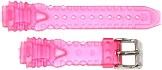 TechnoMarine 15MM Gel Plastic Watch Strap Band Pink with TechnoMarine Logo Stainless Buckle