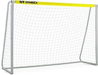 Gymrex bärbar fotbollsmål fotboll nät fotboll mål järn nylon väderbeständig 3 x 2 m GR-SG90 (järnrör ram, nylonnät, näthål...