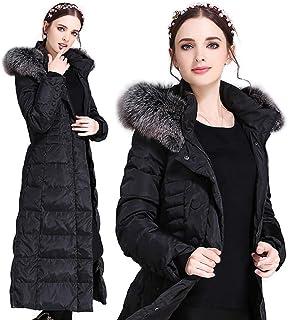 معاطف منتفخة للسيدات أزياء الشتاء الدافئة تناسب الجسم مع ملابس خارجية طويلة غير رسمية معطف للنساء مقاس كبير 5XL، S