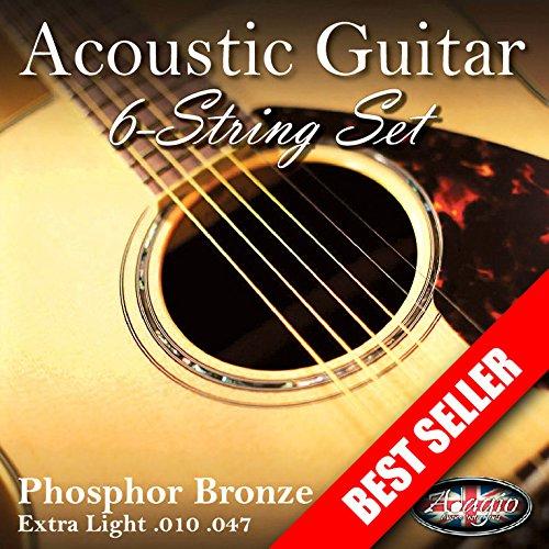 2 SETS! Adagio Professional Acoustic Guitar Strings 10-47 Phosphor Bronze...