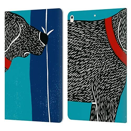 Head Case Designs Offizielle Stephen Huneck Besucher Gruessen Boese Sally Schnueffelnder H& Leder Brieftaschen Huelle kompatibel mit iPad Air (2019)