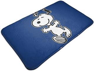 HUTTGIGH Snoopy No se preocupe Be Happy - Felpudo antideslizante para puerta de entrada de baño, cocina, alfombra de 19,5 ...