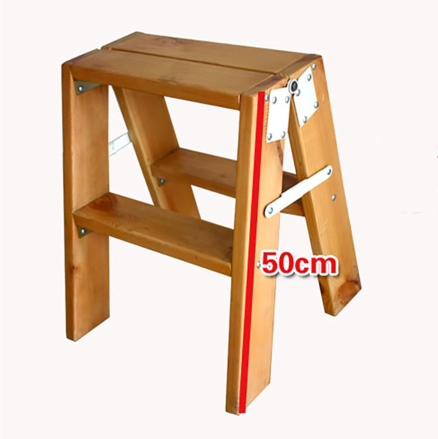 PENGFEI Folding Chair Stairs Multifunction Dual Use Special Material Wood color 2 6 Steps Furniture (Size   4550CM)