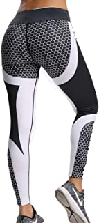 Women's 3D Printed Leggings Sports Gym Yoga Workout High Waist Running Pants Causual Fitness Tights Dry Fit