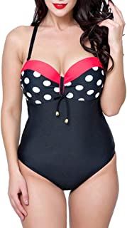 comprar comparacion Mujer Bodycon Bikini Tallas Grandes Push Up Point D'Onde Traje De Baño