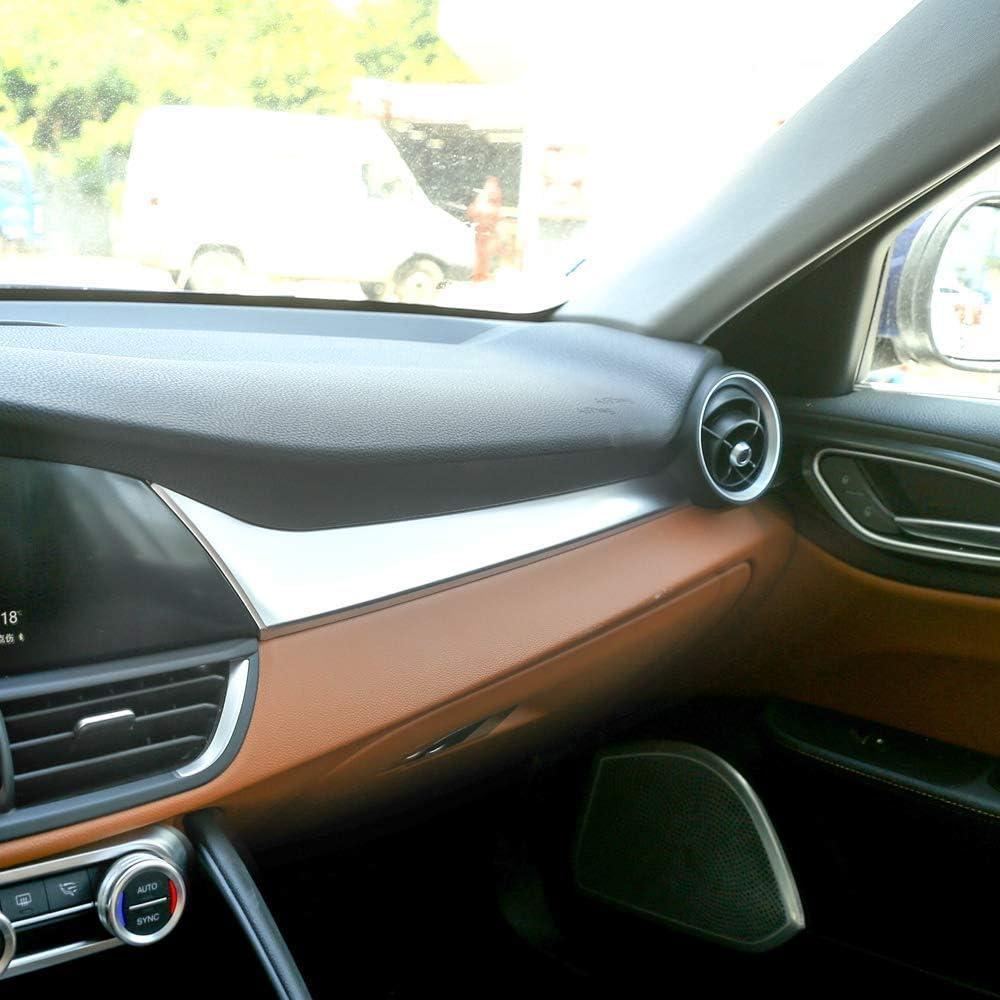 panel de fibra de carbono para consola central de pasajero decoraci/ón para Giulia 2016-2020 para el conductor de la mano izquierda Panel de consola central de coche YIWANG
