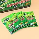 Kicode Cucaracha Palmera Verde Medicina Inicio Matar a la Plaga Control de Errores sin daños No tóxico Inodoro Asesino de Captura de Polvo 5Piezas