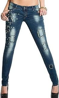 LIU JO SPORT Jeans medio elasticizzato push up perle su tasche donna