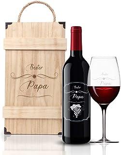 """FORYOU24 Pudełko na wino z grawerunkiem """"Bester Pap"""