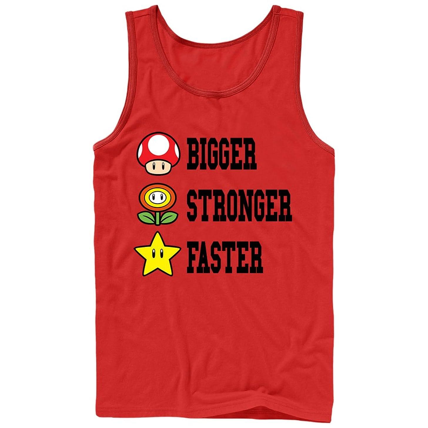 Nintendo Men's Mario Bigger Stronger Faster Tank Top